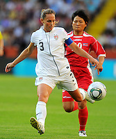 Christie Rampone of team USA during the FIFA Women's World Cup at the FIFA Stadium in Dresden, Germany on June 28th, 2011.