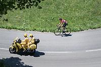 solo race leader Tony Gallopin (FRA/Lotto-Soudal)<br /> <br /> 69th Critérium du Dauphiné 2017<br /> Stage 8: Albertville > Plateau de Solaison (115km)