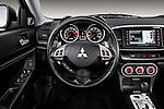 Steering wheel view of a 2012 Mitsubishi Lancer GT Touring