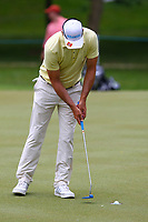 Florian Fritsch putts on the 4th green during the BMW PGA Golf Championship at Wentworth Golf Course, Wentworth Drive, Virginia Water, England on 27 May 2017. Photo by Steve McCarthy/PRiME Media Images.