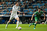 Bale of Real Madrid and Espinho of Ludogorets during Champions League match between Real Madrid and Ludogorets at Santiago Bernabeu Stadium in Madrid, Spain. December 09, 2014. (ALTERPHOTOS/Luis Fernandez)