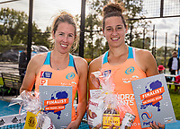 Netherlands, September 6,  2020, Amsterdam, Padel Dam, NK Padel, National Padel Championships, Final womans double:  Runners up :  Chayenne Ewijk (NED) and Rosalie van der Hoek (NED) (R)<br /> Photo: Henk Koster/tennisimages.com