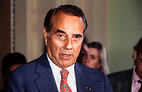 United States Senate Minority Leader Bob Dole (Republican of Kansas) discusses the Clinton health care reform bill at a press conference on Capitol Hill on October 27, 1993.<br /> Credit: Ron Sachs / CNP /MediaPunch