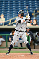 Tampa Yankees designated hitter Matt Snyder (55) at bat during a game against the Clearwater Threshers on June 26, 2014 at Bright House Field in Clearwater, Florida.  Clearwater defeated Tampa 4-3.  (Mike Janes/Four Seam Images)
