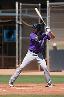 Colorado Rockies outfielder Vince Fernandez (32) at bat during an Extended Spring Training game against the San Diego Padres at Peoria Sports Complex on March 30, 2018 in Peoria, Arizona. (Zachary Lucy/Four Seam Images)