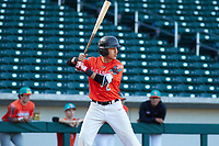 Norman Leon (2) of Evergreen Valley High School in San Jose, California during the Baseball Factory All-America Pre-Season Tournament, powered by Under Armour, on January 13, 2018 at Sloan Park Complex in Mesa, Arizona.  (Freek Bouw/Four Seam Images)