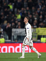 Football Soccer: UEFA Champions UEFA Champions League quarter final second leg Juventus - Ajax, Allianz Stadium, Turin, Italy, March 12, 2019. <br /> Juventus' Cristiano Ronaldo reacts during the Uefa Champions League football match between Juventus and Ajax  at the Allianz Stadium, on March 12, 2019.<br /> UPDATE IMAGES PRESS/Isabella Bonotto