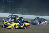 #98: Grant Enfinger, ThorSport Racing, Ford F-150 Champion Power Equipment and #54: Kyle Strickler, DGR-Crosley, Toyota Tundra DGR-Crosley Driver Development