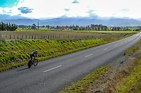 Josh Kench (Counties Manukau Cycling). U19 Men Time trials on Day One of the 2018 NZ Age Group Road Cycling Championships in Carterton, New Zealand on Friday, 20 April 2018. Photo: Dave Lintott / lintottphoto.co.nz
