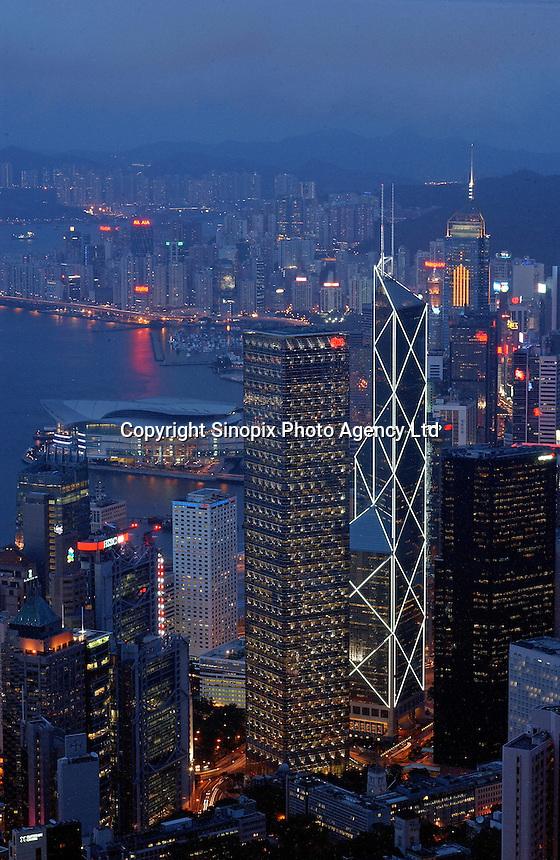 Hong Kong as seen from Victoria Peak..