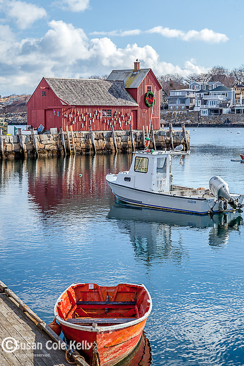 Motif #1, the red fishing shack on Bradley Wharf in Rockport, Massachusetts, USA