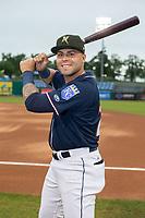 Northwest Arkansas Naturals infielder Emmanuel Rivera (26) poses for a photo on May 18, 2019, at Arvest Ballpark in Springdale, Arkansas. (Jason Ivester/Four Seam Images)