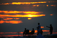 Jul, 9, 2011; Joliet, IL, USA: NHRA fans watch the sunset during qualifying for the Route 66 Nationals at Route 66 Raceway. Mandatory Credit: Mark J. Rebilas-