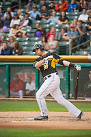 C.J. Cron (38) of the Salt Lake Bees at bat against the Oklahoma City Dodgers in Pacific Coast League action at Smith's Ballpark on May 27, 2015 in Salt Lake City, Utah.  (Stephen Smith/Four Seam Images)