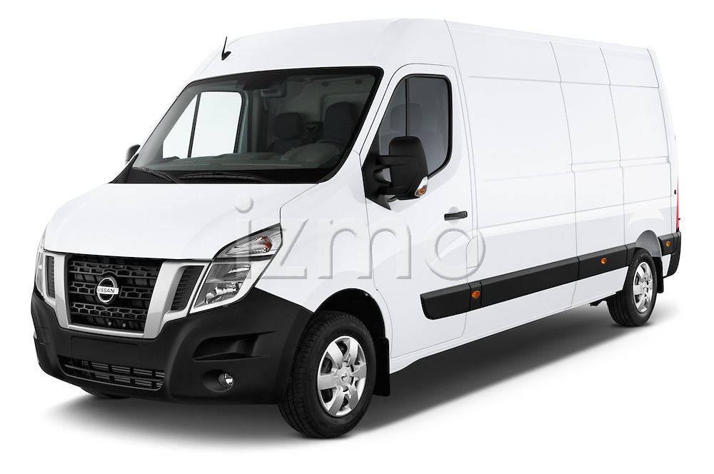 2015 Nissan NV 400 Business 4 Door Cargo Van Angular Front stock photos of front three quarter view