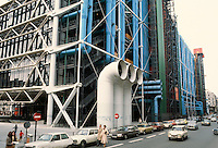 Renzo Piano and Richard Rogers: Centre Pompidou, Paris. Eastern-street-facade.