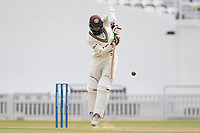 Hashim Amla of Surrey pushes into the on side during Surrey CCC vs Hampshire CCC, LV Insurance County Championship Group 2 Cricket at the Kia Oval on 30th April 2021