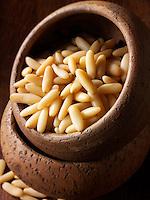 Whole Pine Nut kernals - Stock Photos