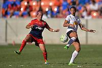 Houston, TX - Sunday Oct. 09, 2016: Christine Nairn, Lynn Williams during a National Women's Soccer League (NWSL) Championship match between the Washington Spirit and the Western New York Flash at BBVA Compass Stadium.