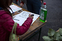 """SCIENZiatE@Roma (Scientists) http://bit.do/fLCyP <br /> <br /> Rome, 03/12/2020. Today, the Nuovo Cinema Palazzo Community held a second public assembly (1.) in Rome's San Lorenzo district to protest against the eviction of the """"Nuovo Cinema Palazzo"""" completed by the Italian police forces in the early morning of the 25th of November and to demonstrate against the violent reaction of the Police forces when, in the evening of the same day, a large demo asked to have the chance to hold a public assembly in the square (Piazza dei Sanniti) of the cinema (2.). The public assembly of today saw the participation and the support & solidarity of the representatives of movements, actors, musicians, students, artists, politicians, and citizens of San Lorenzo who told their stories and memories related to the famous Rome's Art and culture occupation (For example, actor Marcello Fonte, Best Actor Award of the 2018 Cannes Film Festival for the film Dogman, was among the first group of occupiers of the Nuovo Cinema Palazzo). The assembly of the 1st December was interrupted due to the bad weather (3).<br /> The Nuovo Cinema Palazzo was occupied the 15th of April 2011, when citizens, movements, workers of the entertainment industry reopened the former """"Palazzo Cinema"""" to prevent the opening of a casino/gambling space. The illegal occupation was intended as a public hub of art, culture, sport and politics, an open place for exchange, discussion, studies, caring and sharing.<br /> <br /> Footnotes & Links:<br /> 1. http://bit.do/fLCpE<br /> 2. Demo And Clashes Against Nuovo Cinema Palazzo Eviction in Rome's San Lorenzo: http://bit.do/fLxgz<br /> 3. http://bit.do/fLCr3<br /> Previous Stories about Nuovo Cinema Palazzo: 14.04.2018 - Nuovo Cinema Palazzo's Concert: """"7 Anni di CasiNò 