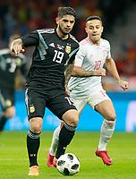 Spain's Thiago Alcantara (r) and Argentina's Ever Banega during international friendly match. March 27,2018.(ALTERPHOTOS/Acero) /NortePhoto.com NORTEPHOTOMEXICO