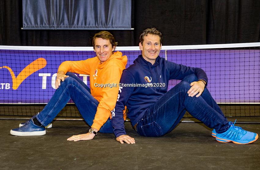 Rotterdam, The Netherlands, 9 Februari 2020, ABNAMRO World Tennis Tournament, Ahoy, Paul Haarhuis (NED) (L) and Jacco Elting (NED)<br /> Photo: www.tennisimages.com