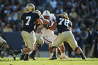 South Bend, IN - OCTOBER 4:  Linebacker Pat Maynor #44 of the Stanford Cardinal during Stanford's 28-21 loss against the Notre Dame Fighting Irish on October 4, 2008 at Notre Dame Stadium in South Bend, Indiana.