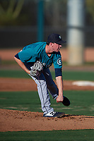 AZL Mariners starting pitcher Holden Laws (41) during an Arizona League game against the AZL D-backs on July 3, 2019 at Salt River Fields at Talking Stick in Scottsdale, Arizona. The AZL D-backs defeated the AZL Mariners 3-1. (Zachary Lucy/Four Seam Images)