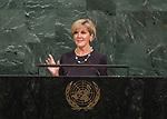 72 General Debate – 22 September <br /> <br /> <br /> <br /> Australian Minister for Foreign Affairs, Julie Bishop