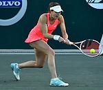 April 5,2018:  Alize Cornet (FRA) split sets with Caroline Garcia (FRA) 5-7, 6-1, at the Volvo Car Open being played at Family Circle Tennis Center in Charleston, South Carolina.  ©Leslie Billman/Tennisclix/CSM