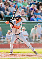 20 August 2017: Connecticut Tigers designated hitter Colby Bortles, a 22nd round draft pick for the Detroit Tigers, in action against the Vermont Lake Monsters at Centennial Field in Burlington, Vermont. The Lake Monsters rallied to edge out the Tigers 6-5 in 13 innings of NY Penn League action.  Mandatory Credit: Ed Wolfstein Photo *** RAW (NEF) Image File Available ***