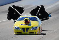 Oct. 29, 2011; Las Vegas, NV, USA: NHRA pro stock driver Rodger Brogdon during qualifying for the Big O Tires Nationals at The Strip at Las Vegas Motor Speedway. Mandatory Credit: Mark J. Rebilas-