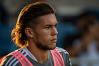 SAN JOSE, CA - JULY 24: Cade Cowell #44 of the San Jose Earthquakes warms up during a game between San Jose Earthquakes and Houston Dynamo at PayPal Park on July 24, 2021 in San Jose, California.