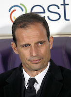 Calcio, Serie A: Fiorentina vs Juventus. Firenze, stadio Artemio Franchi, 24 aprile 2016.<br /> Juventus coach Massimiliano Allegri waits for the start of the Italian Serie A football match between Fiorentina and Juventus at Florence's Artemio Franchi stadium, 24 April 2016. <br /> UPDATE IMAGES PRESS/Isabella Bonotto