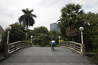 Lumpini Park, Bangkok, Thailand in January 2017, after the King's death