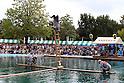 Kiba kakunori raftsmen perform on wooden logs
