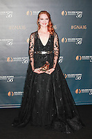 Monaco June 15 2016 56th Monte Carlo TV Festival Golden Nymphs Awards Winners Photocalls Best Actress Odile Vuillemin for L Emprise
