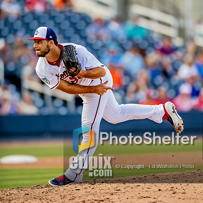 7 March 2019: Washington Nationals pitcher Kyle Barraclough on the mound during a Spring Training Game against the New York Mets at the Ballpark of the Palm Beaches in West Palm Beach, Florida. The Nationals defeated the visiting Mets 6-4 in Grapefruit League, pre-season play. Mandatory Credit: Ed Wolfstein Photo *** RAW (NEF) Image File Available ***