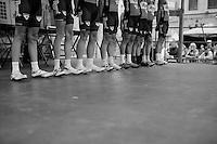 Team Roompot Oranje Peloton legs at the start<br /> <br /> Halle-Ingooigem 2015