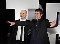 Montreal (Qc) CANADA - March 2008 File Photo-<br /> Paul Amharani , actor (L) and<br /> Philippe Falardeau, Filmmaker (R)<br /> at the 2008 Jutras awards