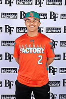 Norman Leon (2) of Evergreen Valley High School in San Jose, California during the Baseball Factory All-America Pre-Season Tournament, powered by Under Armour, on January 12, 2018 at Sloan Park Complex in Mesa, Arizona.  (Mike Janes/Four Seam Images)