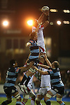 Ulster lock Johann Muller wins the line out ball.<br /> RaboPro 12<br /> Cardiff Blues v Ulster<br /> Cardiff Arms Park<br /> 29.03.14<br /> <br /> ©Steve Pope-SPORTINGWALES