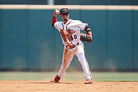 Richmond Flying Squirrels second baseman Bryan Torres (40) on defense against the Bowie Baysox at The Diamond on July 28, 2021, in Richmond Virginia. (Brian Westerholt/Four Seam Images)