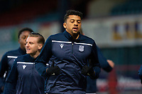 16th March 2021; Dens Park, Dundee, Scotland; Scottish Championship Football, Dundee FC versus Ayr United; Osman Sow of Dundee during the warm up before the match