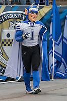 Duke Blue Devil Mascot. The Duke Blue Devils defeated the Pitt Panthers 51-48 at Heinz Field, Pittsburgh Pennsylvania on November 1, 2014.