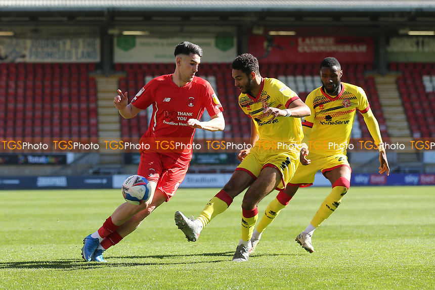 Max Melbourne of Walsall and Conor Wilkinson of Leyton Orient during Leyton Orient vs Walsall, Sky Bet EFL League 2 Football at The Breyer Group Stadium on 5th April 2021
