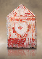 Lucanian fresco tomb painting of a garland of pomegranates . Paestrum, Andriuolo. 3rd Century BC