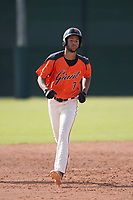 San Francisco Giants left fielder Aaron Bond (7) rounds the bases after hitting a solo home run during an Instructional League game against the Kansas City Royals at the Giants Training Complex on October 17, 2017 in Scottsdale, Arizona. (Zachary Lucy/Four Seam Images)