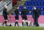 23.12.2020 St Johnstone v Rangers: Steven Gerrard at full time with the referees