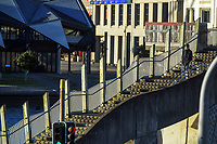 Jervois Quay, Wellington CBD, at 8.15am, Wednesday during Level 4 lockdown for the COVID-19 pandemic in Wellington, New Zealand on Thursday, 19 August 2021.